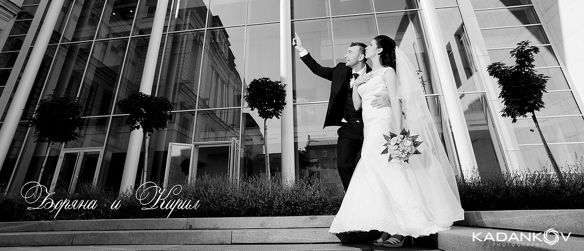 Сваатбена фотосесия сватбена фотогараф младоженци